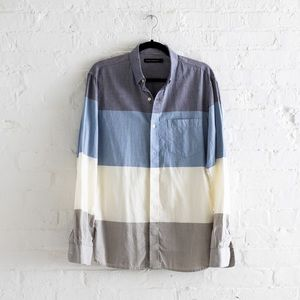 French Connection Striped Button Down Shirt